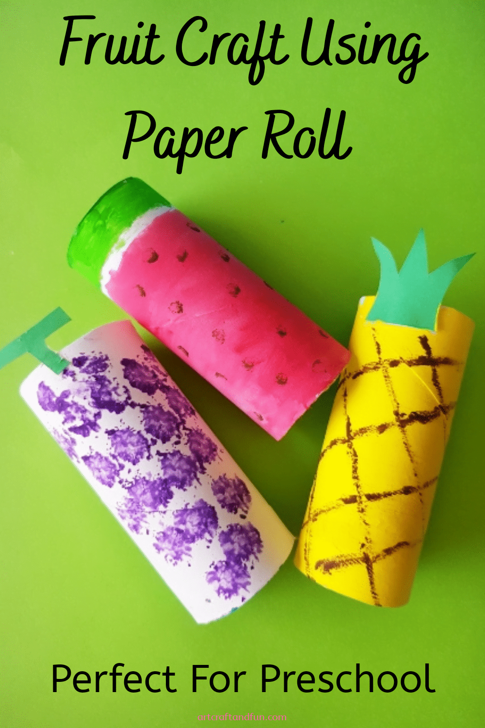Fruit Craft Using Paper Roll