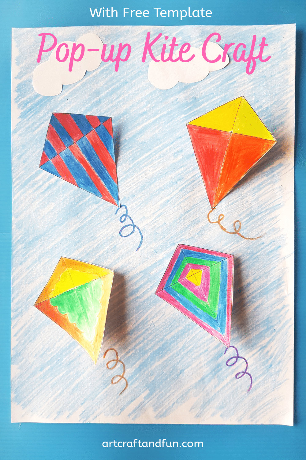 Easy Pop Up Kite Craft