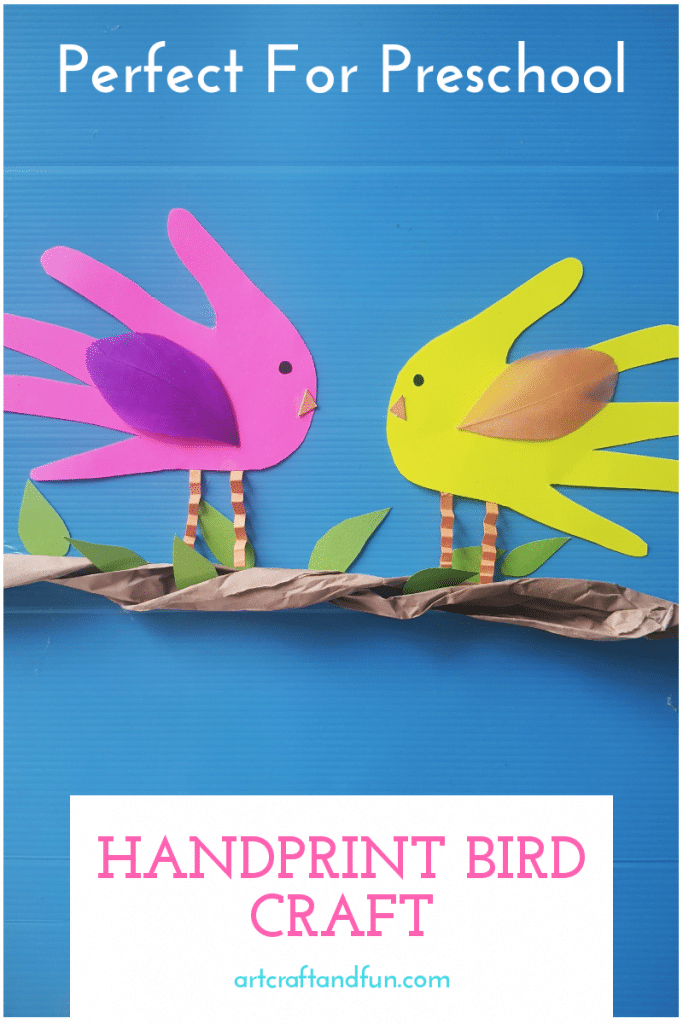 All of us love a good handprint craft. And that's because they are super easy to make and are adorable keepsakes for when the kids grow up. This Handprint Bird Craft is perfect for this very reason. #birdcraft #birdcraftforpreschool #handprintcraft
