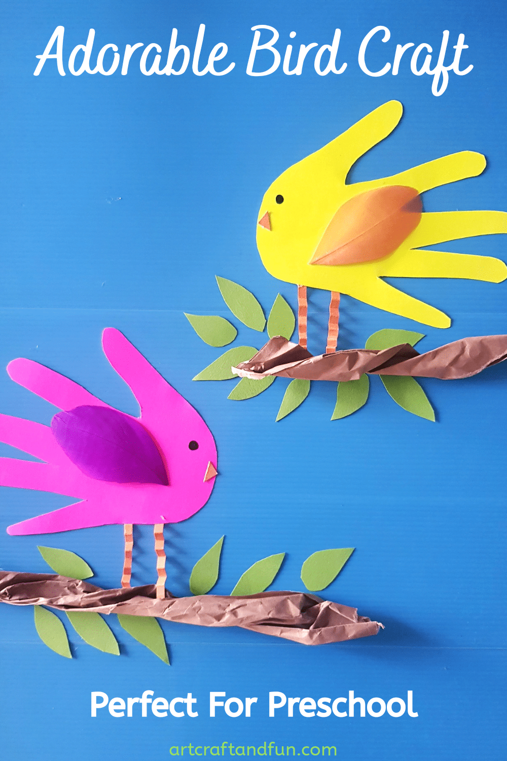 Adorable Handprint Bird Craft