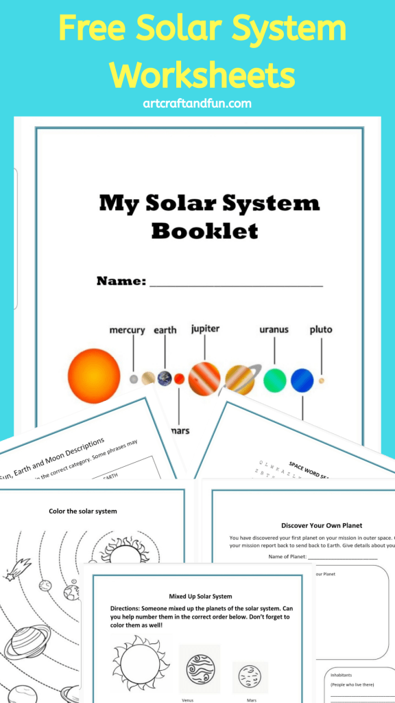 Download these Free Printable Solar System Worksheets today. Perfect for using for homeschooling or in school. These worksheets are perfect for grade schoolers. #freeprintables #solarsystemworksheets #solarsystem