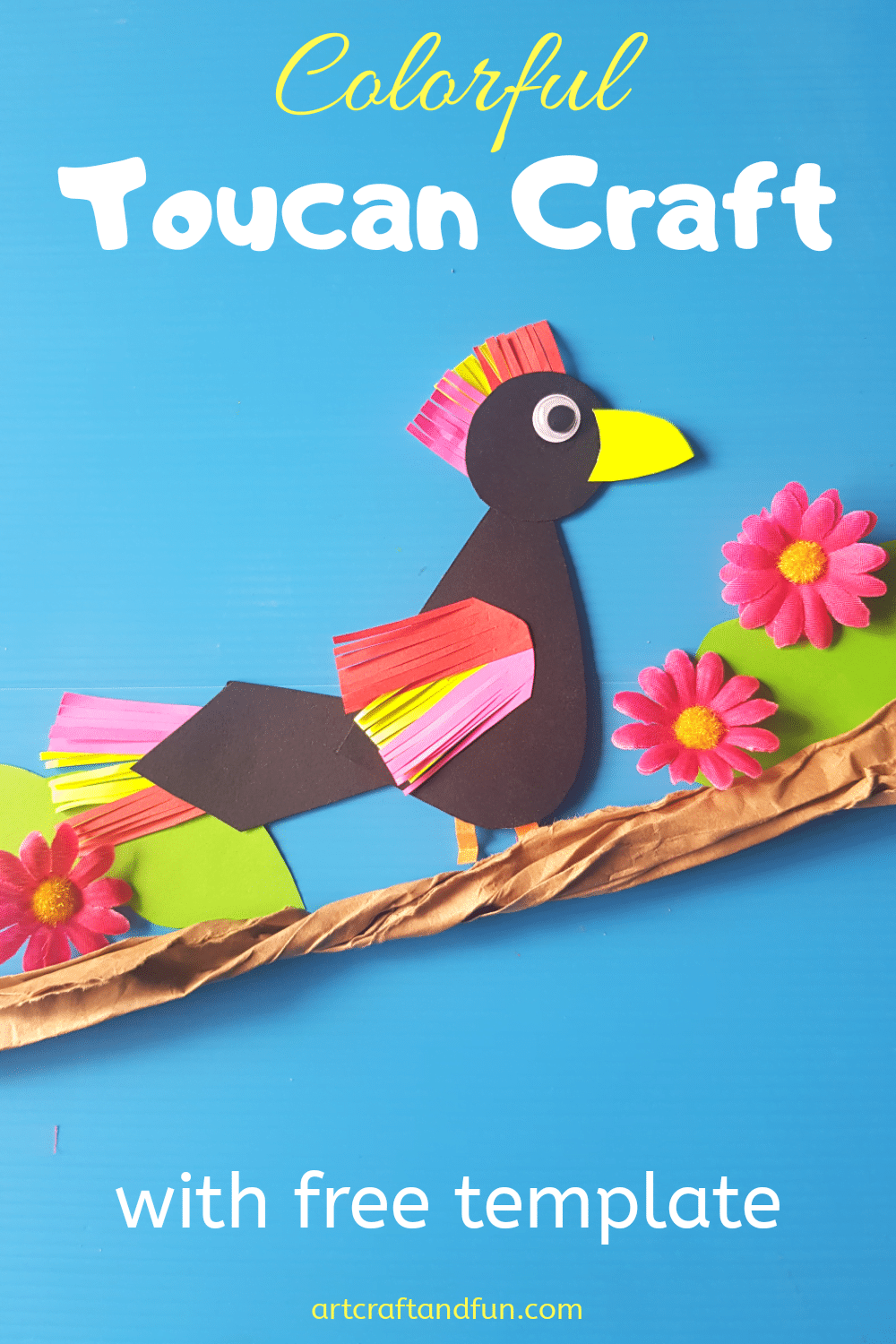 Colorful Toucan Craft With Free Template