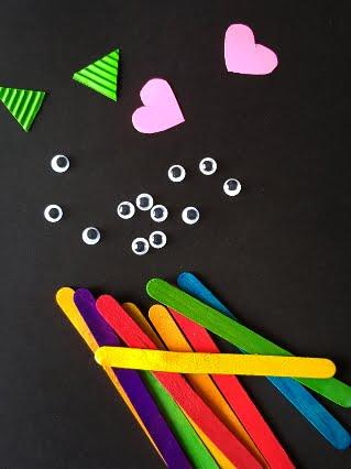 Rainbow Monster Craft Materials