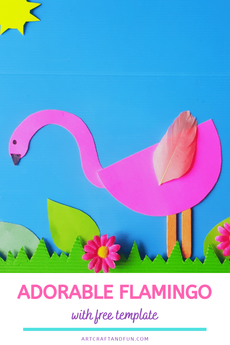 Adorable Flamingo Craft With Free Template