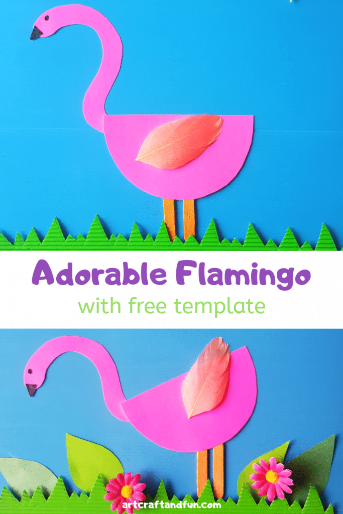 Learn to make this Adorable Flamingo Craft today. It comes with FREE Printable Template. This is a perfect preschool craft to make for the Rainforest theme. #Flamingocraft #paperflamingo #Flamingotemplate #Birdcraft #preschoolcraft #printablecraft