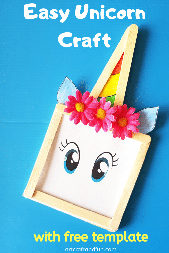 Make this super Easy Unicorn Craft for some fun today. Its a perfect Unicorn Craft For Preschool as well as for bigger kids. Its perfect for Unicorn Pretend Play. #Unicorncraft #unicorncraftforkids #easyunicorncraft #popsiclestickunicorncraft