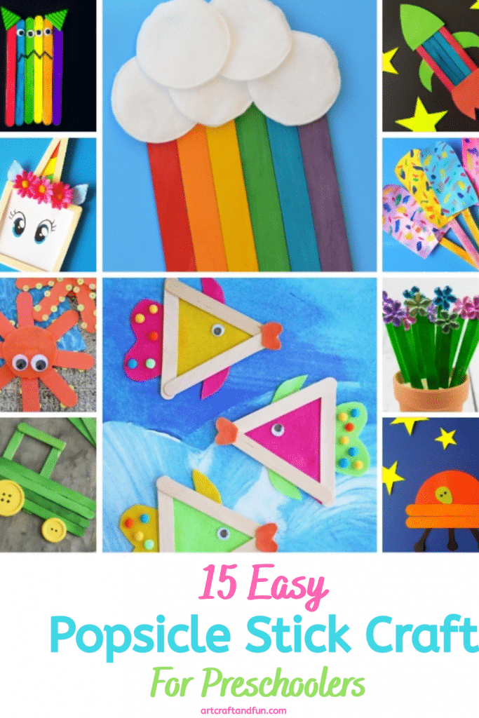 Check out this amazing collection of Easy Popsicle Stick Crafts For Preschoolers. #popsiclestickcrafts #rainbowpopsiclesticks #rainbowcrafts #popsiclecraftsforkids #popsiclestickcraftforpreschoolers