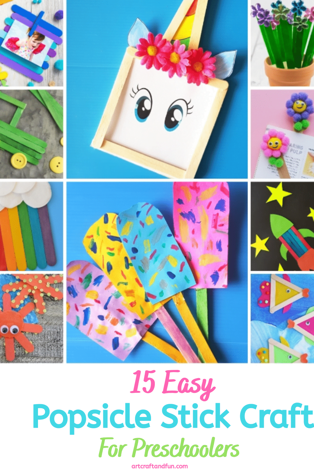 Easy Popsicle Stick Crafts For Preschoolers