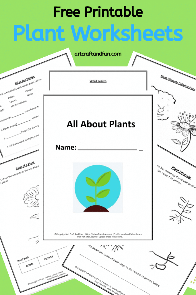 Grab these 5 Free Printable Plant Worksheets today. They are perfect for grade schoolers. Fun way of reinforcing concepts. #freeworksheets #freeprintable #plantworksheets