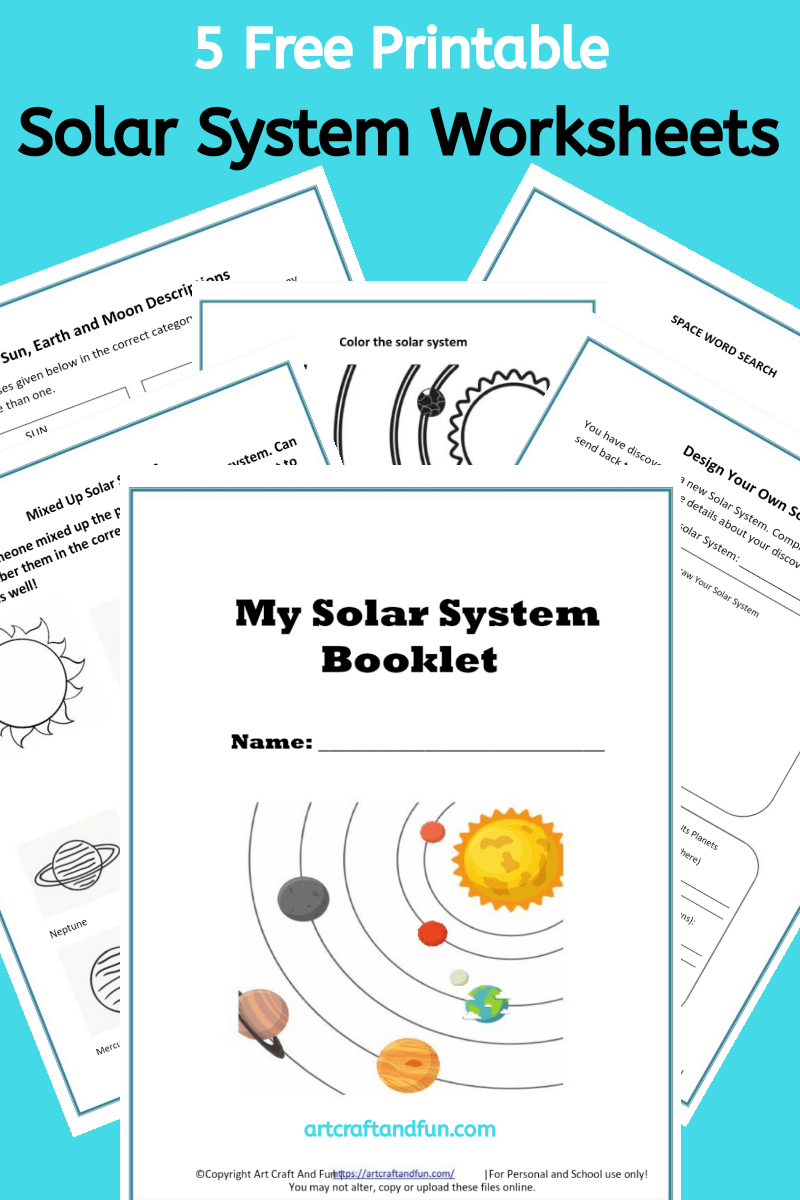 Free Printable Solar System Worksheets For Kids