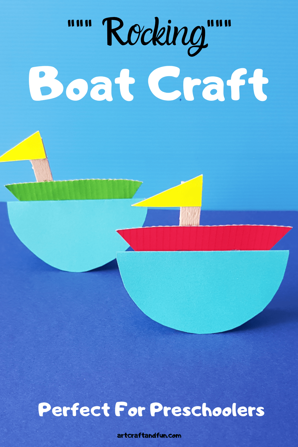 Rocking Boat Craft For Kids