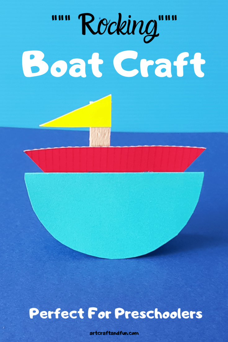 Make this Adorable Rocking Boat Craft today. It requires simple materials and is super easy to make and tons of fun to play with. Perfect Transport Craft ever! #transportcraft #transportcraftforpreschoolers #boatcraft #boatcraftforpreschoolers #boatcraftforkids
