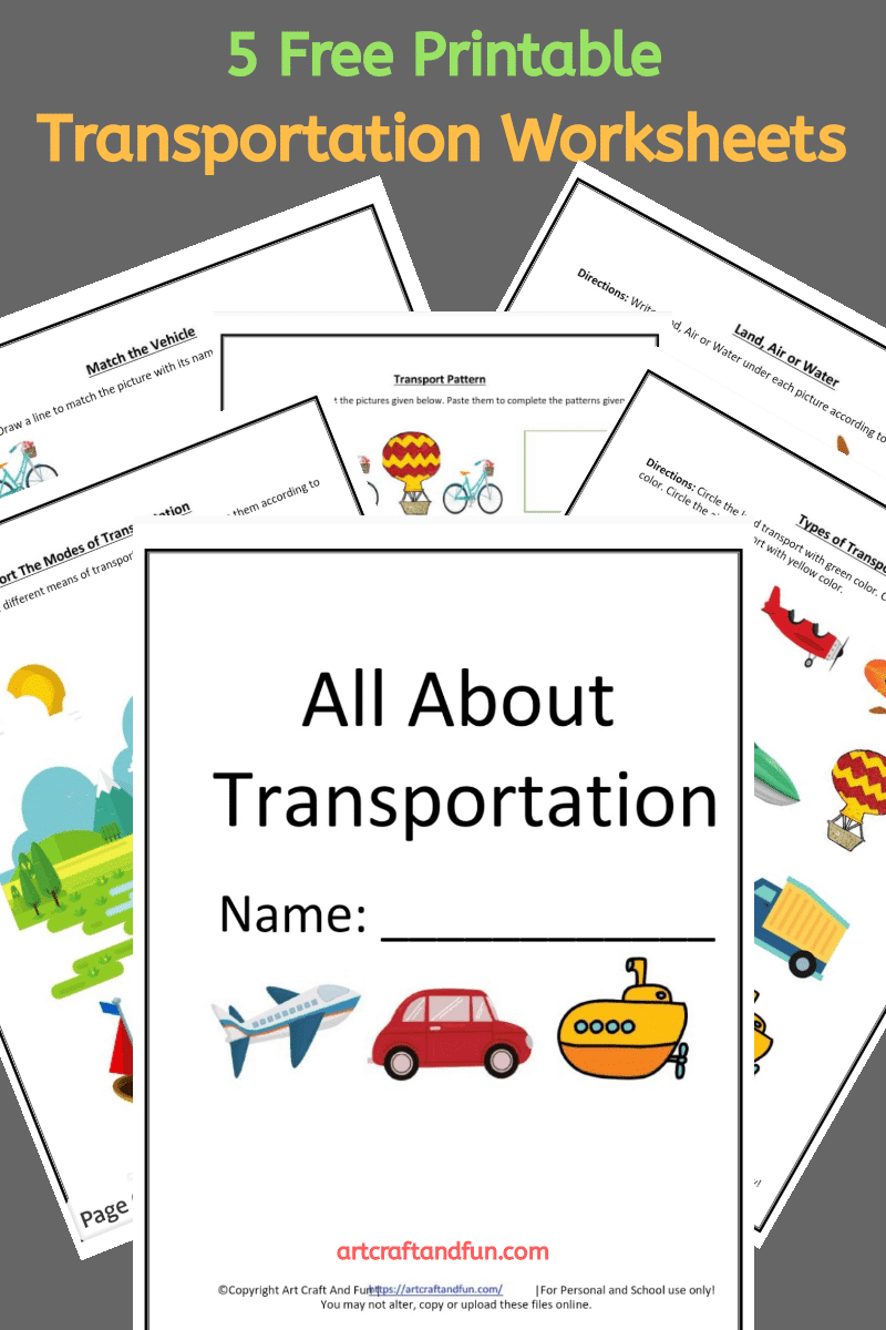 Free Printable Transportation Worksheets
