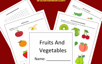 This colorful set of Free Printable Fruit and Vegetable Worksheets are perfect for kids age 6 and up. This fun set comes with four colorful worksheets. #freeprintable #freeprintableworksheets #fruitworksheets #vegetableworksheets #fruitandvegetableworksheets