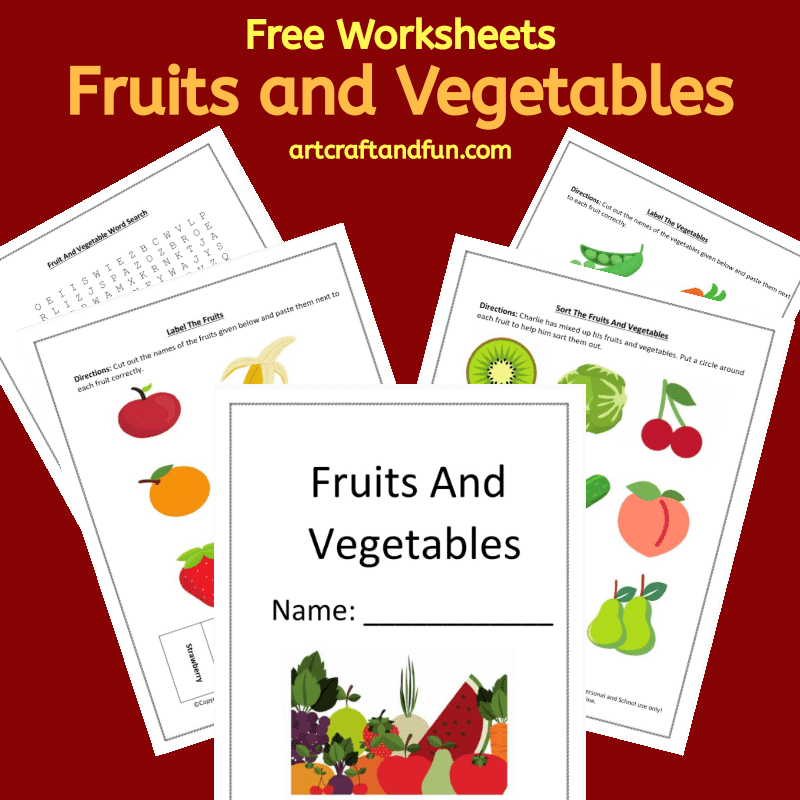 Free Printable Fruit and Vegetable Worksheets