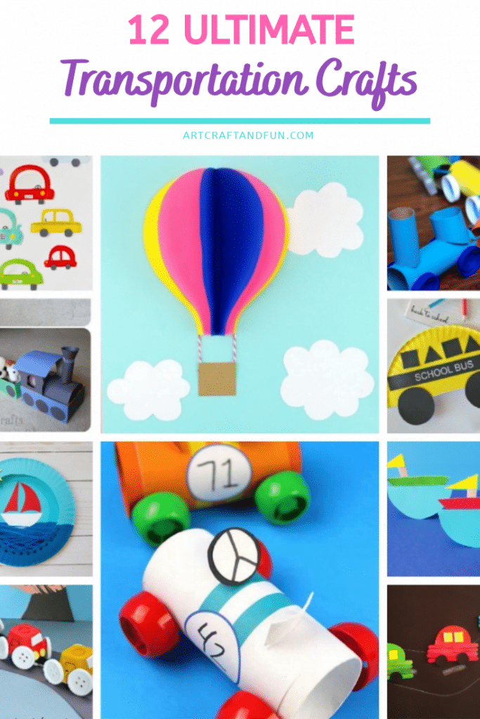 Check out these amazing list of Transportation Crafts For Kids of all ages. From airplanes to boats and trains this list covers them all! #transportationcraft #transportcraft #carcraft #traincraft #boatcraft #buscraft