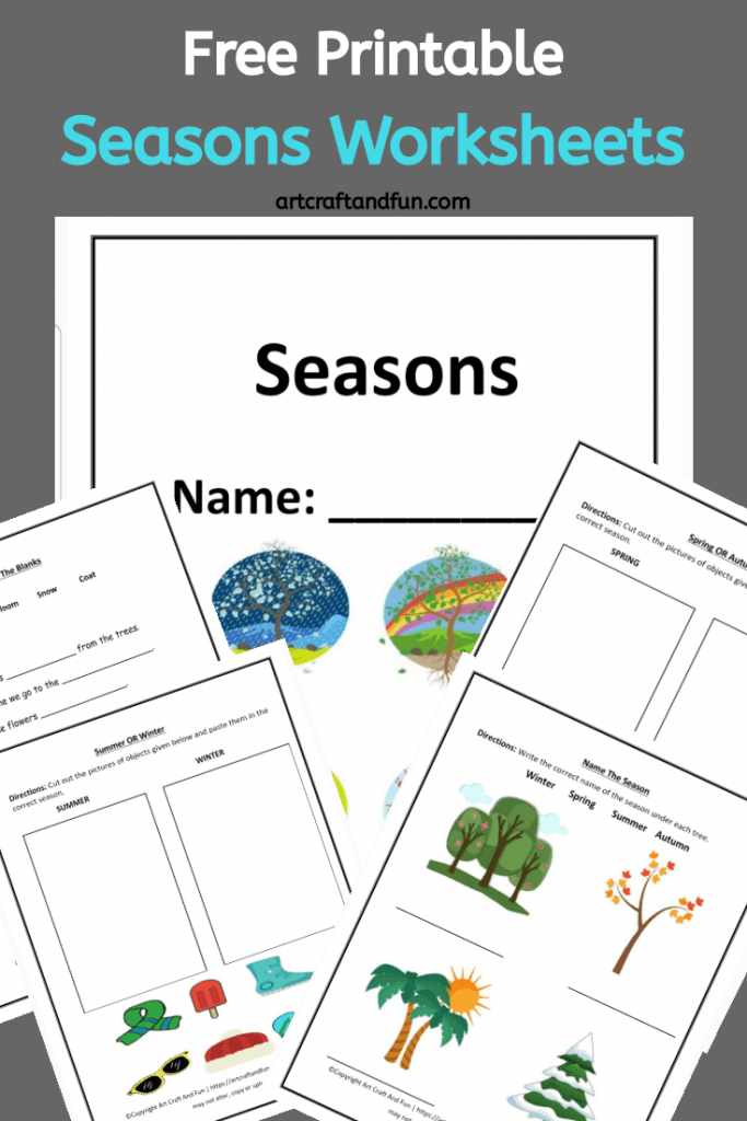 Grab Free Printable Seasons Worksheets for your kids today! These colorful worksheets are perfect for introducing the four seasons to your kids. Perfect for kids age 6 and up. #freeprintableworksheets #freeprintableseasonsworksheets #seasonsworksheets