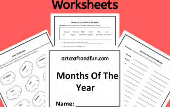 Grab this set of Free Printable Months Of The Year Worksheets today! This fun and easy worksheets set is perfect for introducing the names and order of the months of the year! #freeprintbleworksheets #freeprintablemonthsoftheyearworksheets #monthsoftheyearworksheets