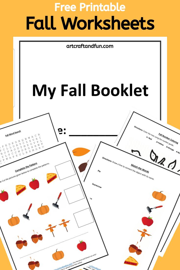 Free Printable Fall Worksheets