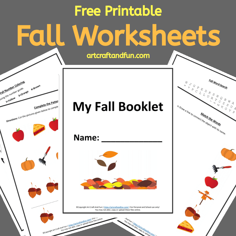 Grab your set of Free Printable Fall worksheets. These fun and easy worksheets are perfect for kids age 6 and up. #freeprintableworksheets #fallworksheets