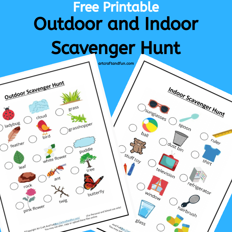 Free Outdoor and Indoor Scavenger Hunt Printables