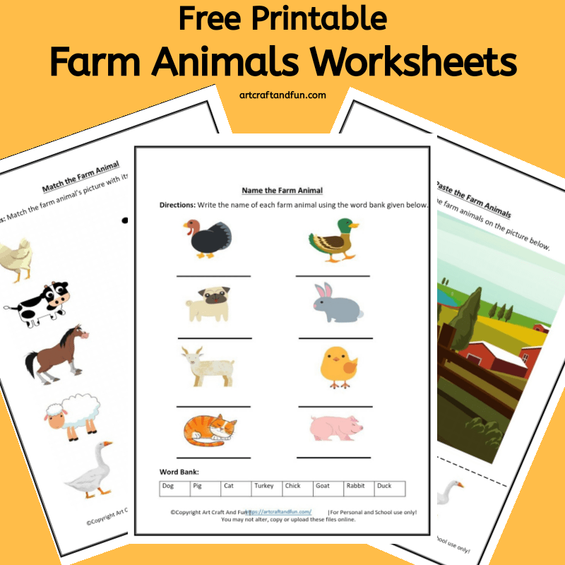Get Free Printable Farm Animals Worksheets for your kids today. These fun and colorful worksheets are sure to keep your kids busy and learning about their favorite farm animal. #freeprintable #farmanimalworksheets #freeprintablefarmanimalworksheets
