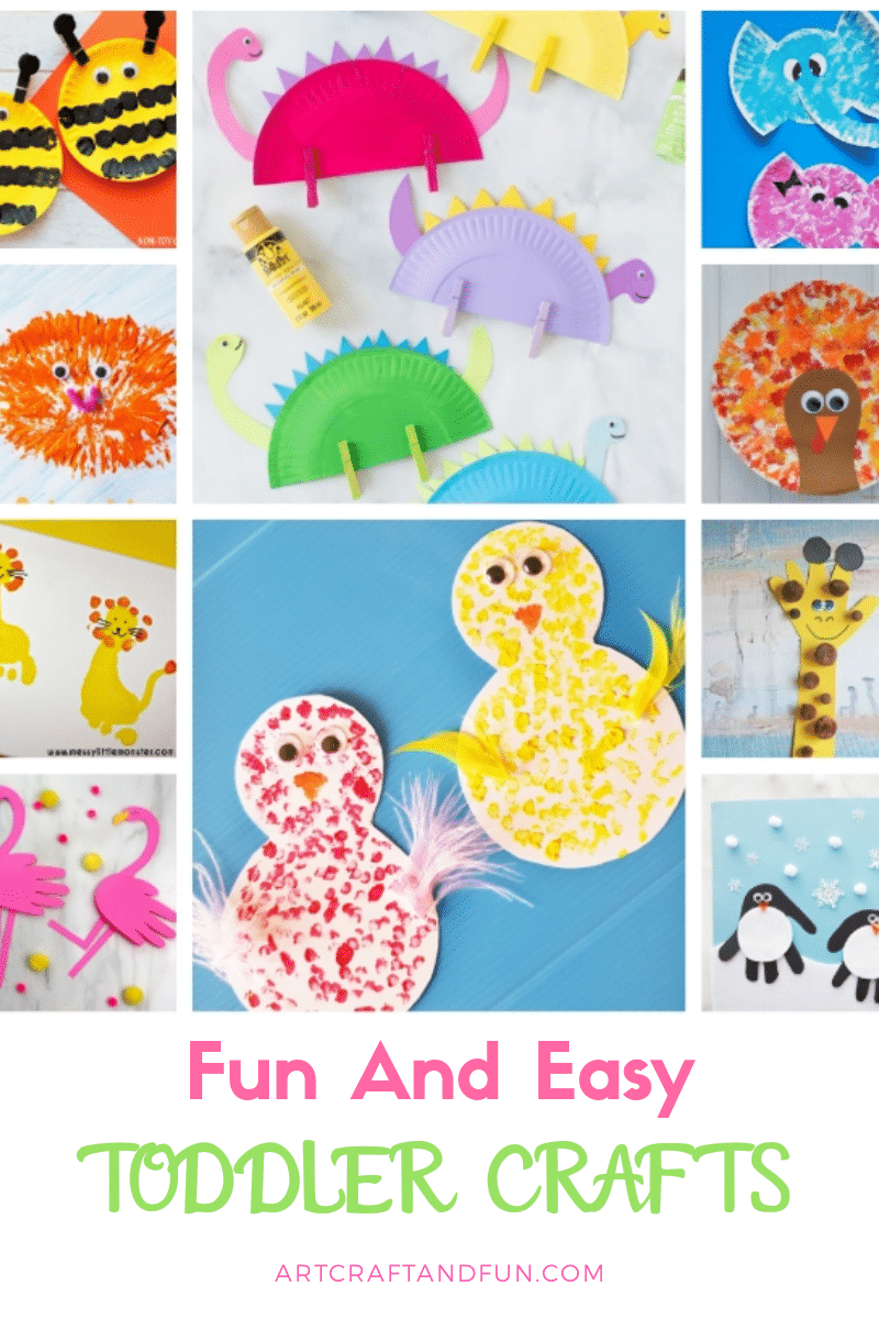 Checkout this amazing list of Easy and Fun Toddler Crafts. Perfect for preschoolers as well. #toddlercraft #preschoolcrafts #handprintcraft #easycrafts #funcraftsforpreschool