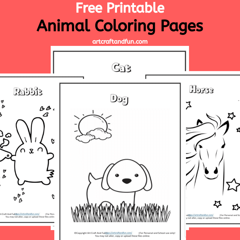 Grab this set of Free Printable Animal Coloring pages today! This fun and exciting coloring pages are sure to make your kids happy! #freecoloringpages #freeprintablecoloringpages #animalcoloringpages #freeanimalcoloringpages