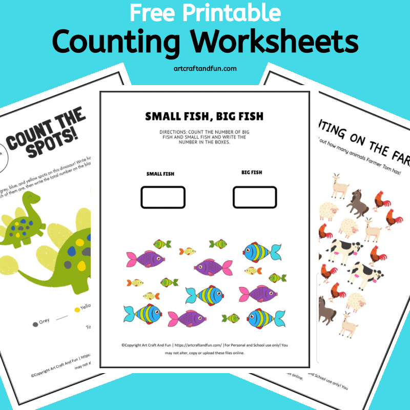 Free Printable Counting Worksheets For Preschoolers