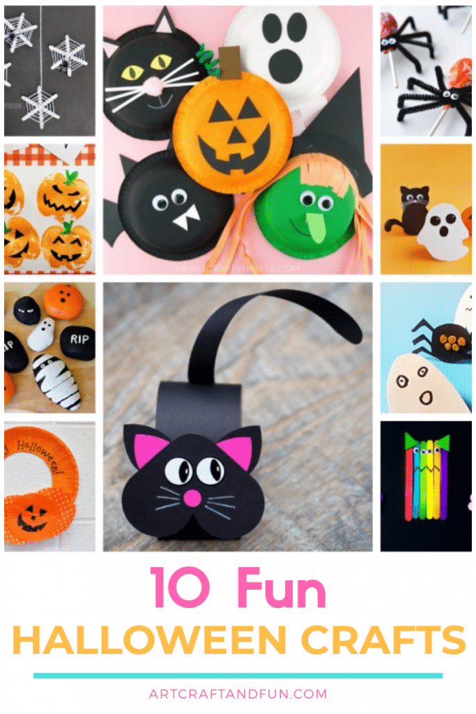 Check out this amazing collection of Halloween Crafts For Kids. #halloweencrafts #halloweencraftsforkids #Spookyhalloweencrafts #fallcrafts