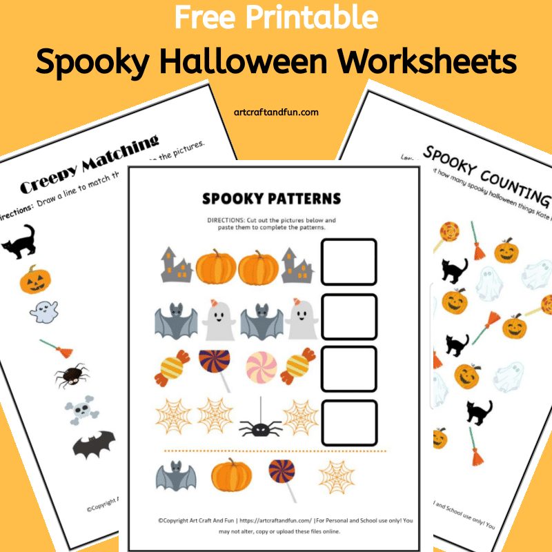 Free Spooky Halloween Worksheets For Kids