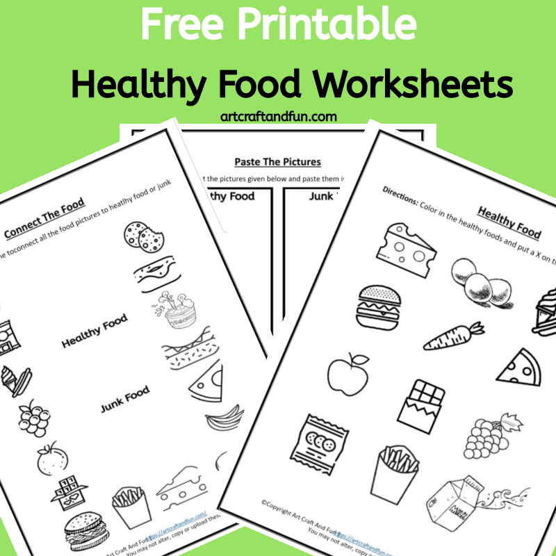 Free Printable Healthy Food Worksheets