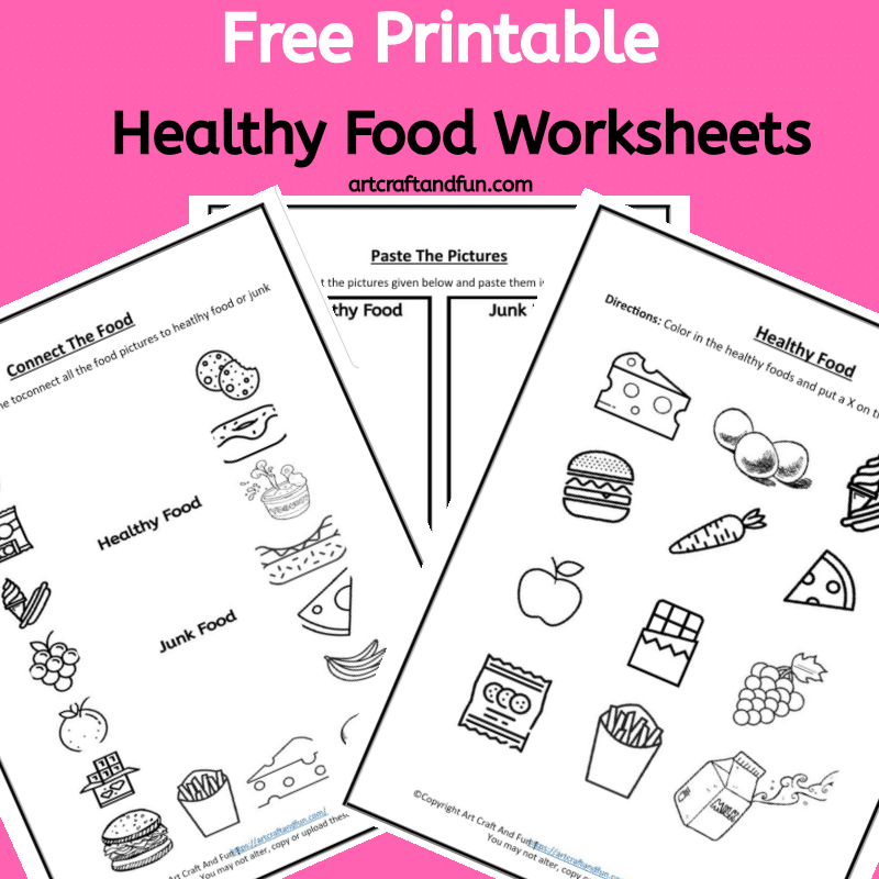 Grab Healthy Food Worksheets today. These fun worksheets are perfect for developing eating healthy habits. #healthyeatingworksheets #healthyfoodworksheets