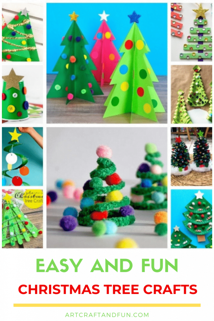 Try out these Easy And Fun Christmas Tree Crafts with your kids today to create some wonderful childhood memories. #christmascrafts #christmastreecrafts #christmastreecraftsforkids