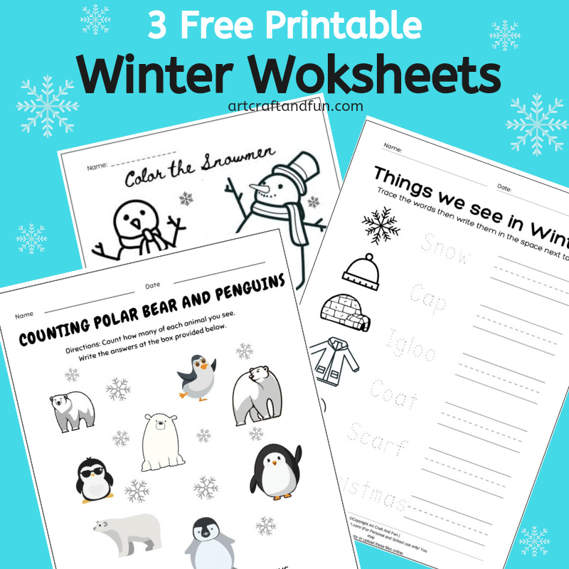 Free Printable Winter Worksheets