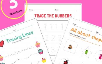 Get 3 Free Printable Valentine Day Worksheets for Preschool