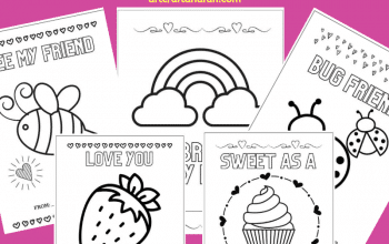 Grab 5 Free Printable Valentines Coloring Cards for your kids today! These adorable Valentine's day Cards for kids are perfect for everyone.