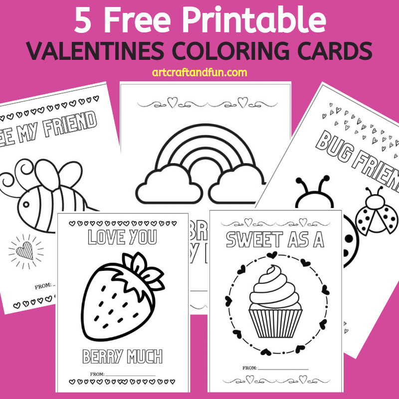 Free Printable Valentines Coloring Cards
