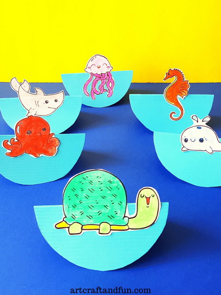 Ocean Craft For Preschoolers with free template