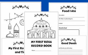 Ramadan activity book: My First Roza Record Book