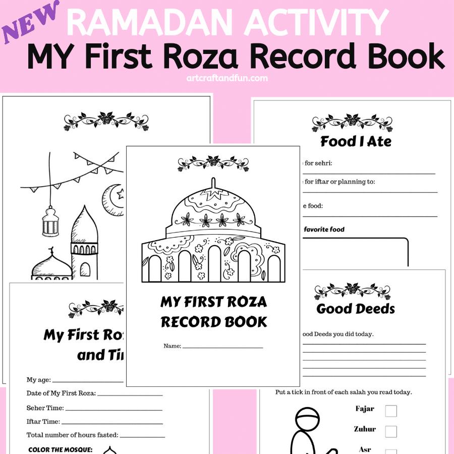 Ramadan activity book: My First Roza Record Book
