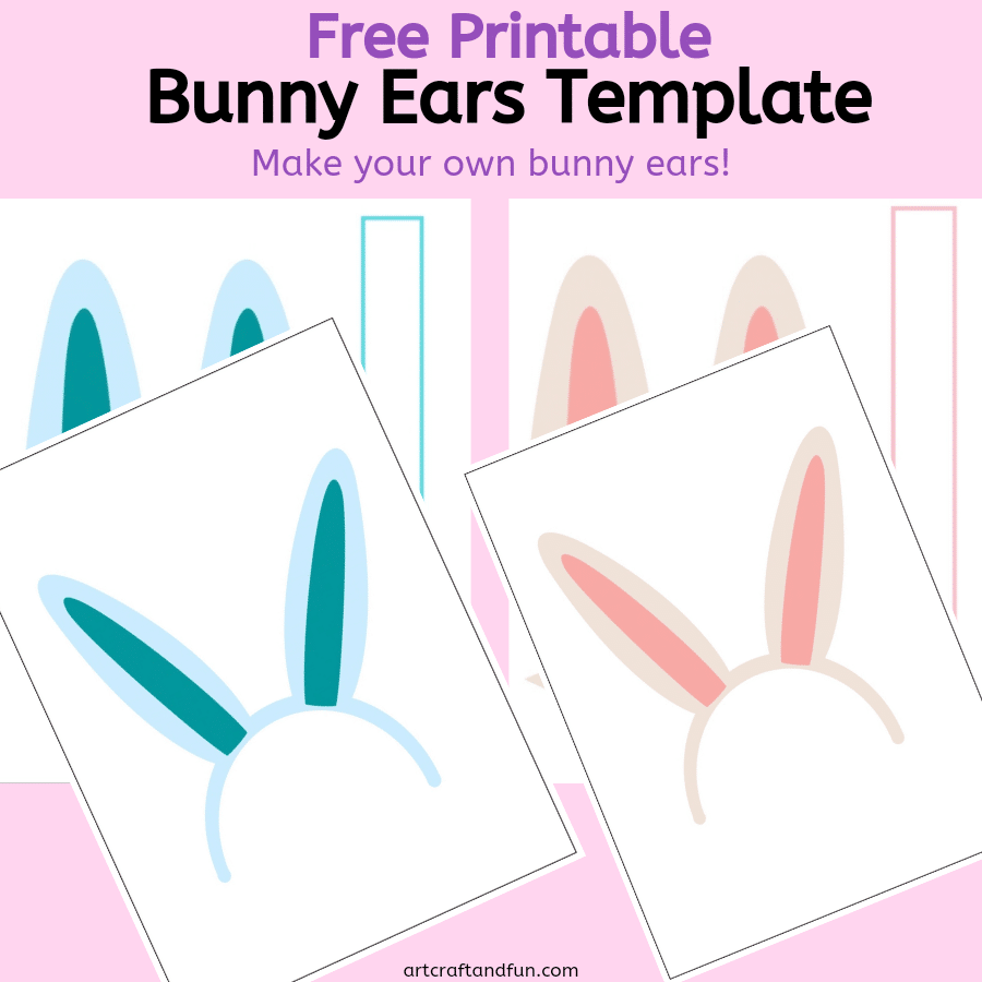 Free Printable Bunny Ears Template For kids