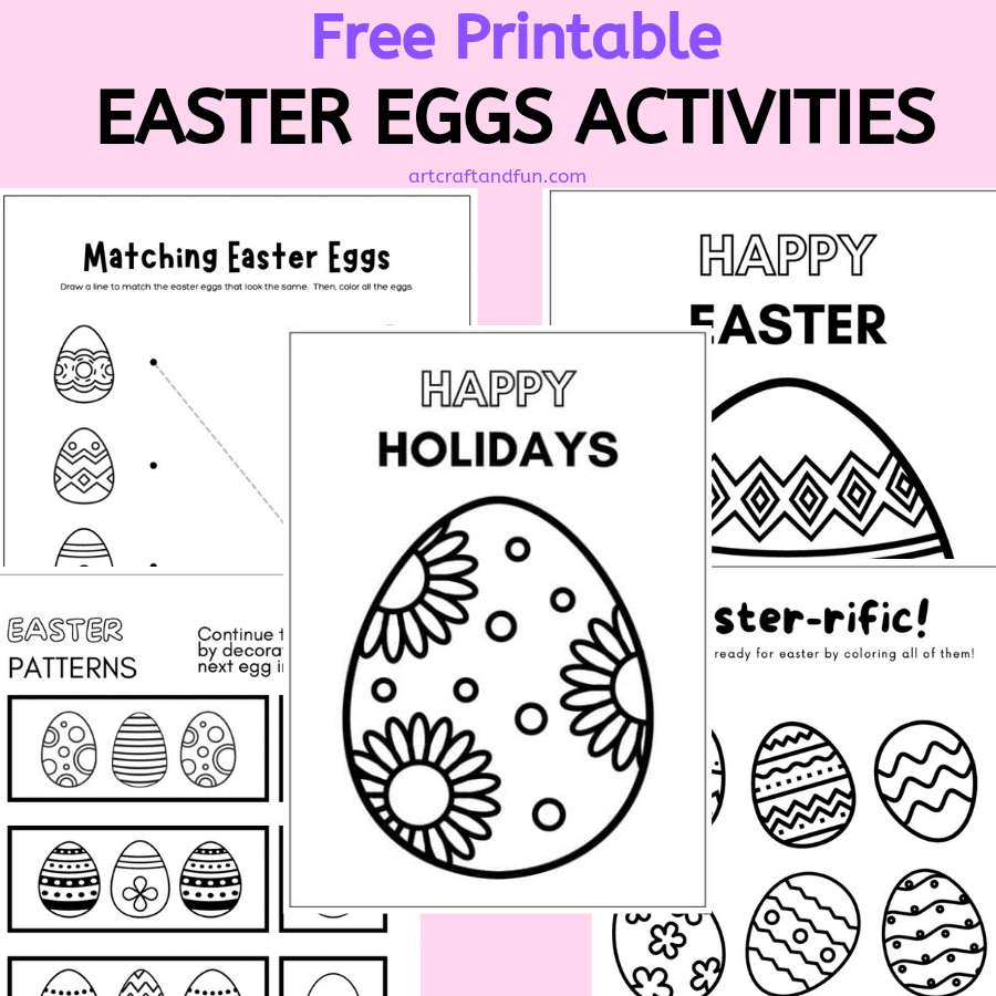 Free Easter Eggs Coloring Pages