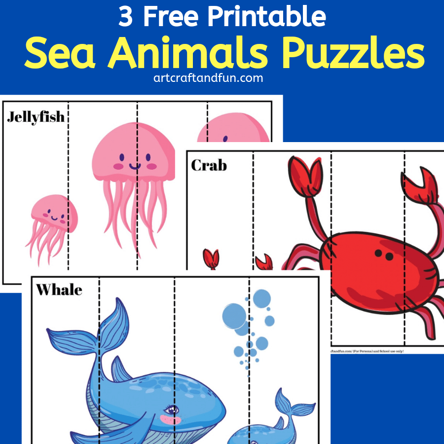 Free Printable Sea Animals Puzzles For Kids