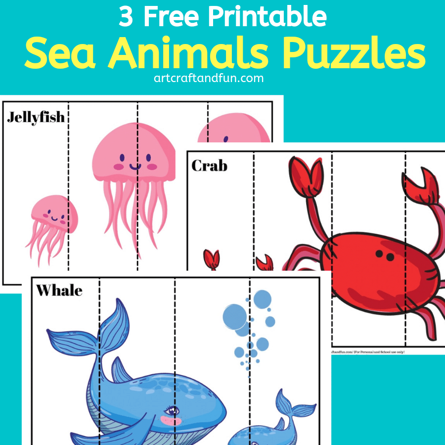 Free Printable Sea Animal Puzzles For Kids