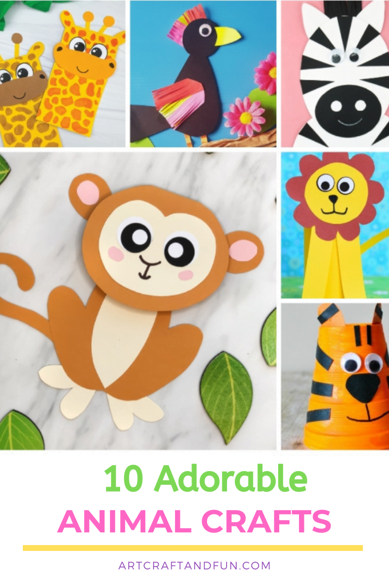 10 Animal Crafts For Kids
