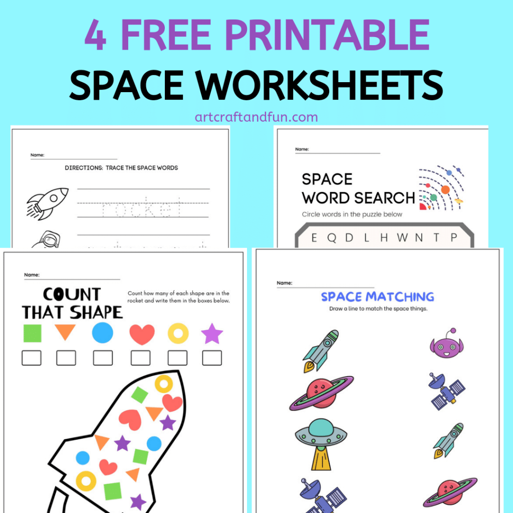 Free Printable Space Worksheets