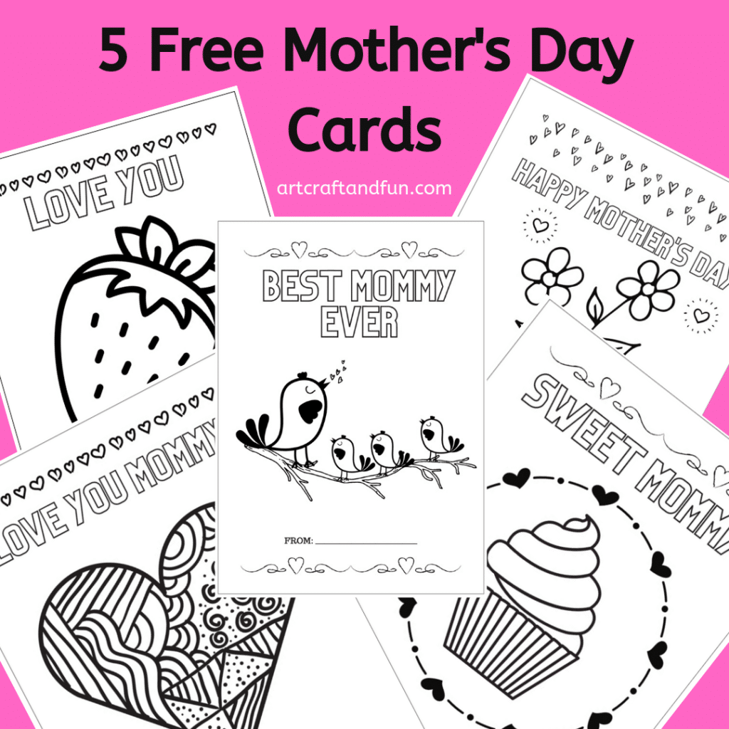 Free Mother's Day Coloring Cards