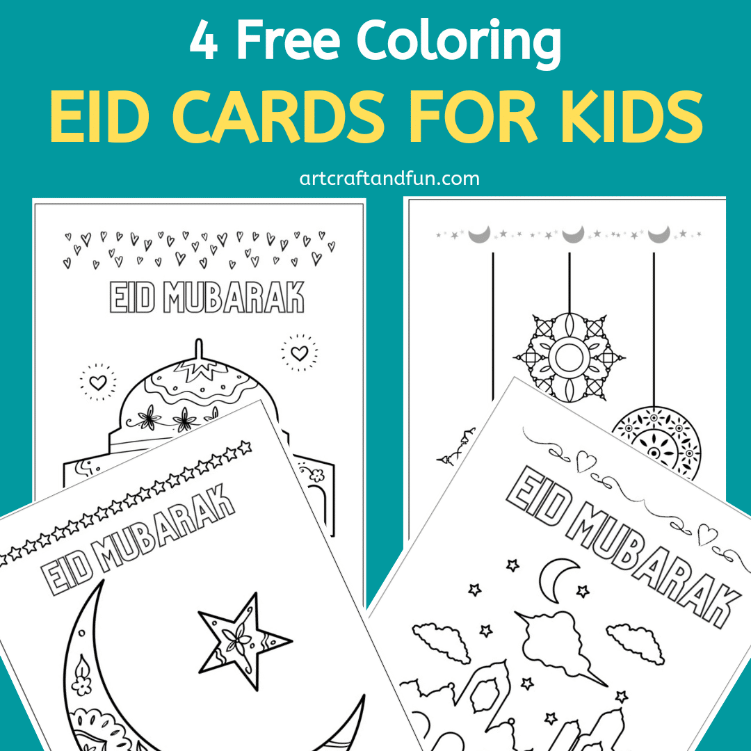 Free Printable Coloring Eid Cards For Kids