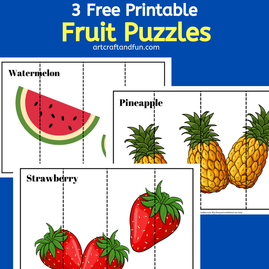 Free Printable Fruit Puzzles For Kids